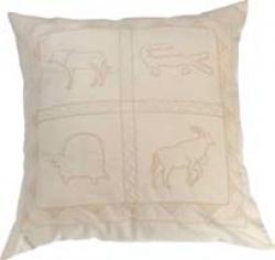 Woonkamer: Cushion cover wild animal cream